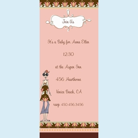 Mod Capri Mama Sparkled Invitation - click to enlarge
