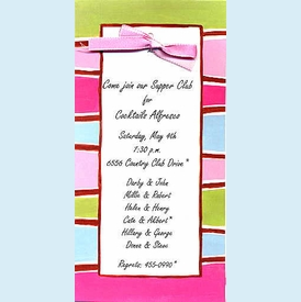 Mod Stripes Invitation - click to enlarge