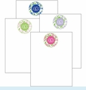 Monogram Floral Cute Collections Notepad Set