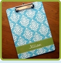 Monogrammed Clipboard by ClaireBella