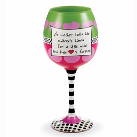 Mother's Heart Wine Glass - click to enlarge