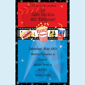 Movie Night Invitation - click to enlarge