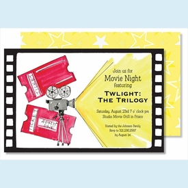 Movie Reel Large Flat Invitation - click to enlarge