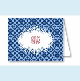 Navy/Light Blue Greek Key Note Cards - click to enlarge