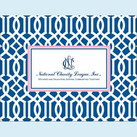 NCL Navy Lattice Notecards - click to enlarge