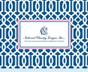 NCL Navy Lattice Notecards
