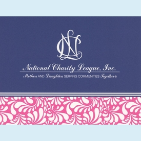 NCL Navy Deco Notecards - click to enlarge