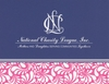 NCL Navy Deco Notecards