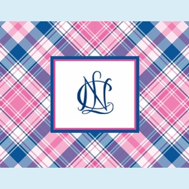 NCL Plaid Notecards - click to enlarge