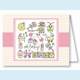 Oh Baby Girl Note Cards - click to enlarge