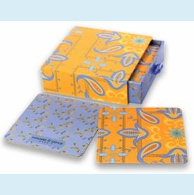 Orange Paisley Coasters Set - click to enlarge
