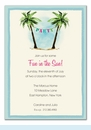 Palm Tree Party Banner Invitation
