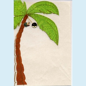 Palm Tree Pocket Invitation - click to enlarge