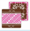 Paper Coasters - Chocolate Bold Floral