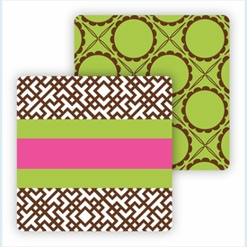 Paper Coasters - Chocolate Greek Key - click to enlarge