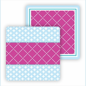 Paper Coasters - Fuchsia & Light Blue - click to enlarge