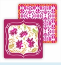 Paper Coasters - Hot Pink Thistle