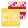 Paper Coasters - Hot Pink/Yellow Damask