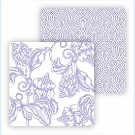 Paper Coasters - Lavender Wood Cut Floral - click to enlarge