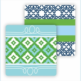Paper Coasters - Navy Clover - click to enlarge