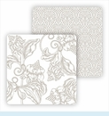 Paper Coasters - Pewter Wood Cut Floral