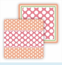 Paper Coasters - Pink & Coral