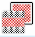 Paper Coasters - Red & Black