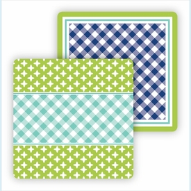 Paper Coasters - Turquoise & Lime - click to enlarge