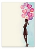 Party Balloon Girl Invitation