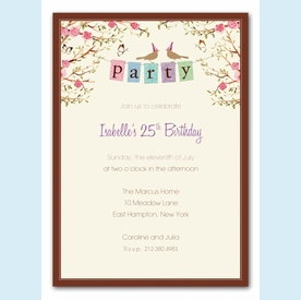 Party Banner Invitation - click to enlarge