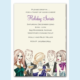 Party of Five Invitation - click to enlarge