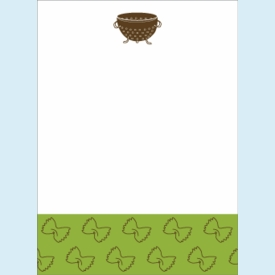 Pasta Colander Notepad - click to enlarge