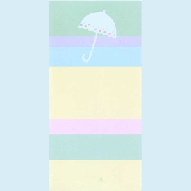 Pastel Striped Shower Invitation - click to enlarge