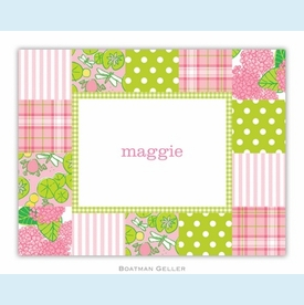 Patchwork Pink Folded Notes (set/25) - click to enlarge