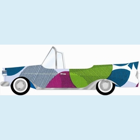 Patterned Car Invitation - click to enlarge