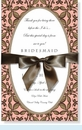 Peach & Brown Oval Empress w/Bow Invitation