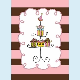 Pedestal of Gifts Birthday Card - click to enlarge