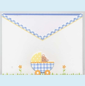 Peekaboo Bear Swaddle Invitation - click to enlarge