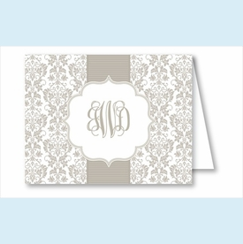 Pewter Botanical Ribbon Pattern Note Cards - click to enlarge