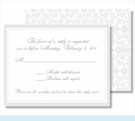 Pewter Elegant Border Small Flat Cards