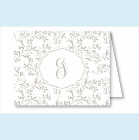 Pewter Sweet Pea Note Cards - click to enlarge