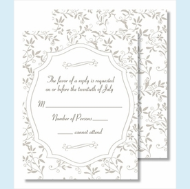 Pewter Sweet Pea Small Flat Cards - click to enlarge