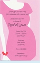 Pink Belly Girl Invitation
