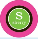 Pink/Black/Green Circle Personalized Magnet