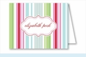 Pink/Blue/Green Stripes Note Cards