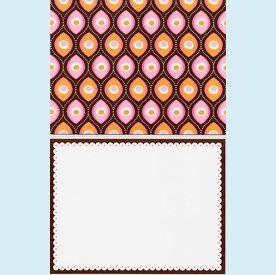 Pink & Brown Note Card Set - click to enlarge
