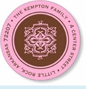 Pink & Brown Sticky Labels