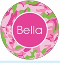 Pink Camo Personalized Mirror