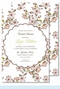 Pink Cherry Blossoms Large Flat Invitation