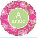 Pink Daisy Personalized Mirror